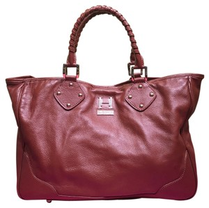 Halston Heritage Leather Large Tote in BROWN