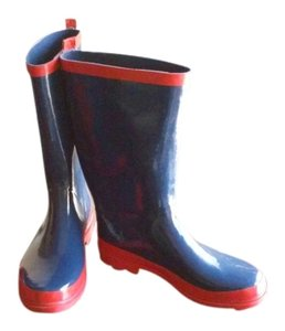 Forever 21 NAVY BLUE WITH RED TRIM Boots