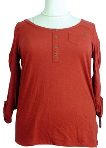 Style & Co Plus Size Fashions Henley Ruched Sleeves Top