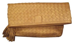 Morris Moskowitz Intrecciato Woven Made In Italy Bottega Venetta Mm Olive Beige Clutch