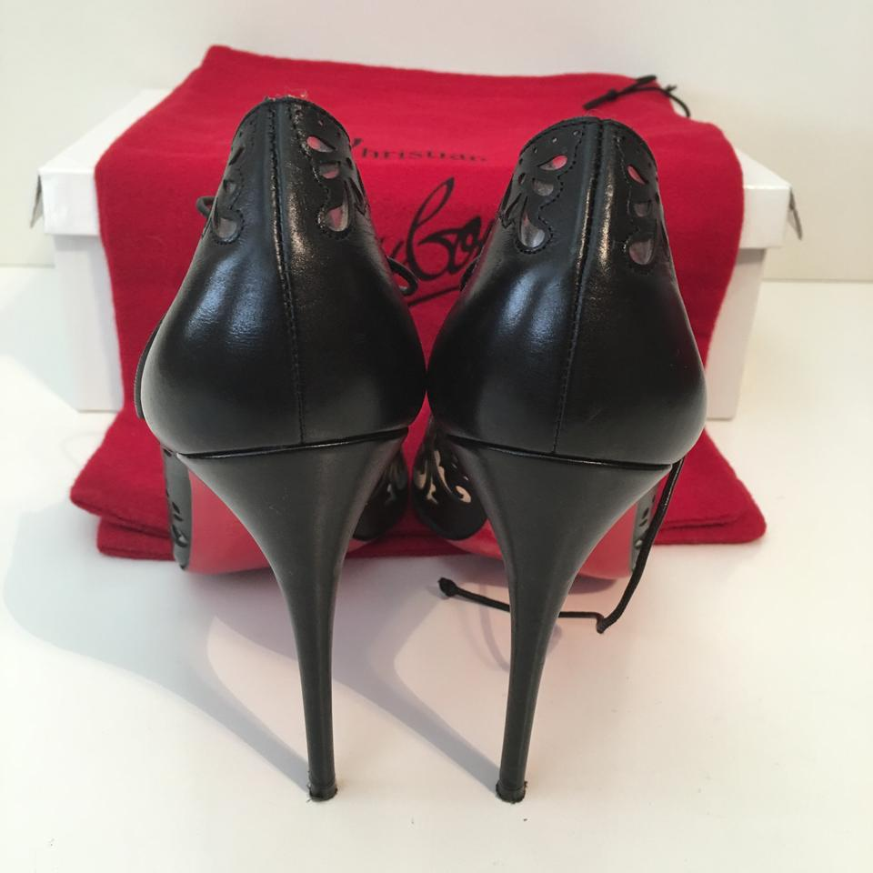 shoes replicas - Christian Louboutin Impera 100 Pvc Lazercut Eu 37.5 Us 7 Black ...