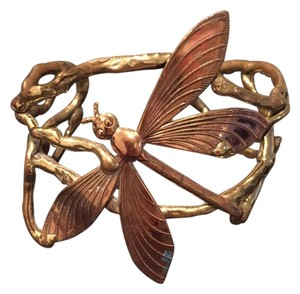 Copper And Brass Dragonfly Cuff