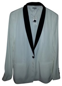 Express White and Black Accents Blazer