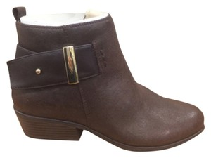 White Mountain Bootie Boot Gold Hardware Brown Boots