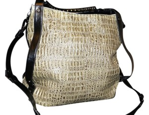 Kenneth Cole Crocodile Croc Extra Large Xl Shoulder Bag