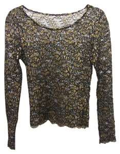 Other Top black and gold lace