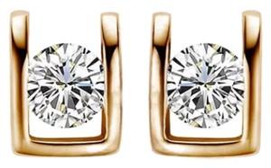 New 14K Gold Filled Cubic Zirconia Small Stud Earrings J2036