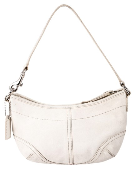 Style 4283 White Leather Shoulder Bag