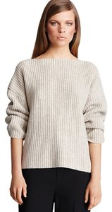 Vince Yak Boatneck Ribbed Cropped Sweater