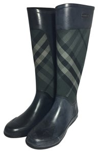 Burberry Black & Gray Boots