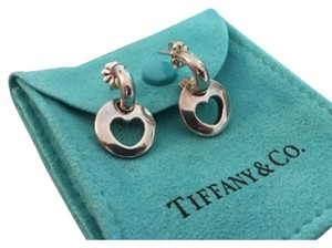 Tiffany & Co. Sterling Silver Heart Stencil Cut Out Earrings