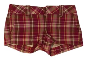 Aéropostale Cut Off Shorts Pink Plaid
