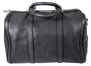 Gucci Vintage Leather Boston Satchel in Charcoal