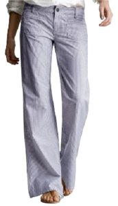 Gap Pinstripe Engineer Vintage Limted Edition Steam Punk Wide Leg Pants Blue and White