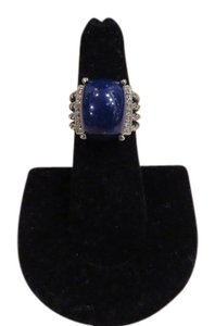 David Yurman Wheaton Collection 16mm x 12mm Lapis Lazuli/Pave' Diamonds