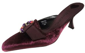 J. Renee Meranda Velvet Satin Wineberry Pumps