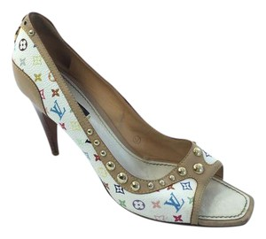 Louis Vuitton Rainbow Studs Multicolor Pumps