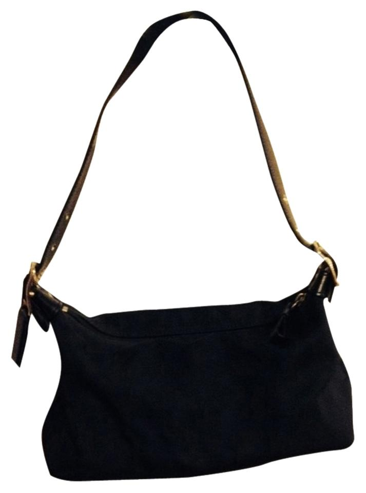 739bb10d52 Coach Evening Black Fabric with Leather Trim Hobo Bag - Tradesy