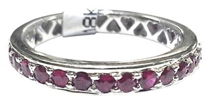 DeWitt's Eternity Ring With 0.86 Carats Total Weight Red Rubies in 18 Karat White Gold