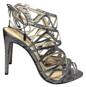 Alexandre Birman Pewter Sandals