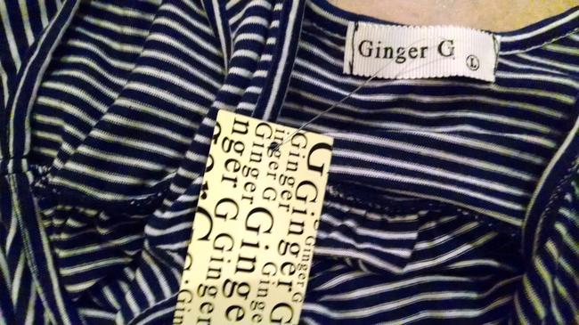 Ginger G P818 G New Size Large Top navy blue, white