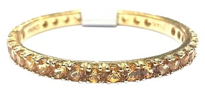 DeWitt's Eternity Ring With 1.10 Carats Total Weight Yellow Sapphires in 14 Karat White Gold