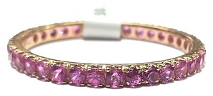 DeWitt's Eternity Ring With 1.00 Carat Total Weight Pink Sapphires in 14 Karat Rose Gold