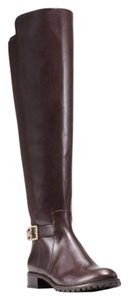 Michael Kors Bryce Flat Riding Over The Knee Brown Boots