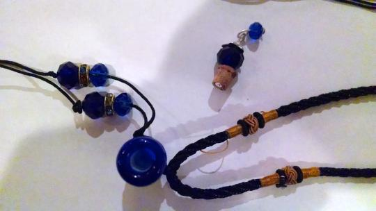 Other New Murano Glass Perfume Bottle Pendant Necklace Cork Lid J303