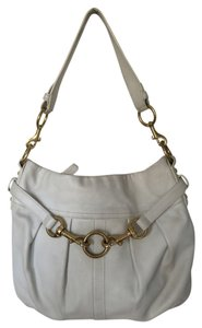 Coach Hampton Pleated Leather Leather And Brass Leather Pleated Leather Handbag Leather Handbag Handbag Hobo Bag