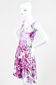 Just Cavalli short dress Multi-Color Pink Purple And on Tradesy