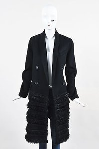 J. Mendel Wool Fur Trim Coat