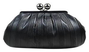 Tiffany & Co. Leather Pleated Black Clutch