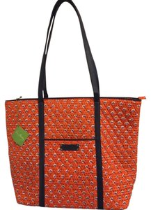 Vera Bradley Tote in Orange and Navy