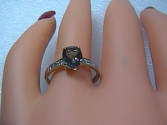 Other 1.6 cts 10k Solid Yellow Gold Mystic Topaz & Diamond Ring