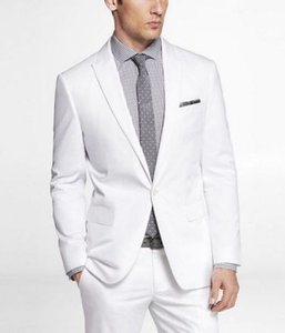 Express Express Men's Fitted White Photographer Suit Jacket. Size 36 Regular.