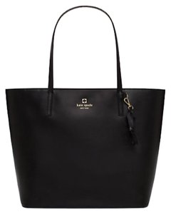 Kate Spade Blacktote Cute Shopper Leather Smoothleather Tote in BLACK