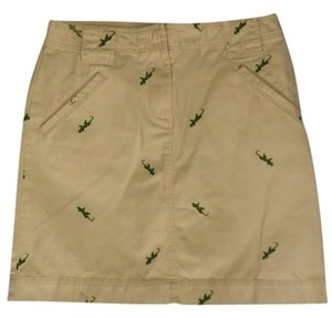 J.Crew Mini Golf Mini Skirt Yellow with green lizards