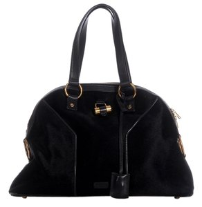 Saint Laurent Ys.k0108.12 Black Pony Hair Muse Ysl Shoulder Bag