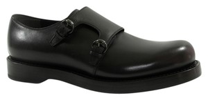 Gucci Loafers Men's 358272 Men's Leather Monkstrap 358272 Black Formal