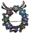 Unknown Rhinestone Crystal Wreath Brooch Image 0