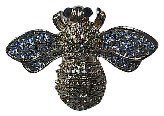 Unknown Crystal Clear Rhinestone Bee Brooch