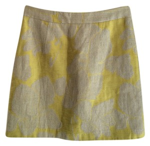 Zara Fashion Mini Skirt Beige and Yellow