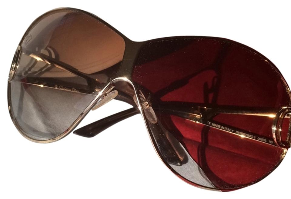 4caad2c6384c0 Dior Brown and Gold Diorissimo 1 000dl 110 Sunglasses - Tradesy