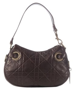 Dior Cd.j1202.18 Brown Cannage Quilted Charm Hobo Bag