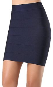 bebe Bandage Bodycon Bandage Solid Bandage Bcbg Mini Skirt Navy Blue