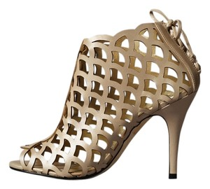 Klub Nico Metallic Peep Toe Bootie Nude Formal