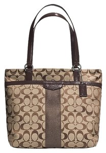 Coach Signature Handbag Satchel Tote in brown