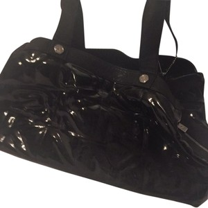 Donna Karan Satchel in Black Patent Leather