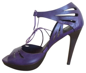Diane von Furstenberg Leather Purple Pumps